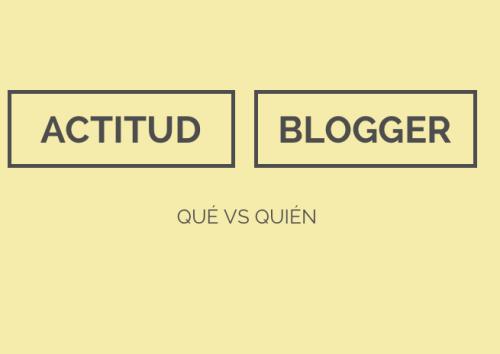 Actitud blogger